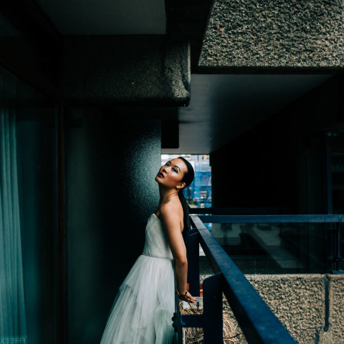 barbican estate, barbican conservatory, urban jungle, audreyashley couture, BAME model, barbican photo shoot, barbican wedding, Boom blooms, colourful wedding flowers, floral crown, frey de pauli make up, london wedding, millinery