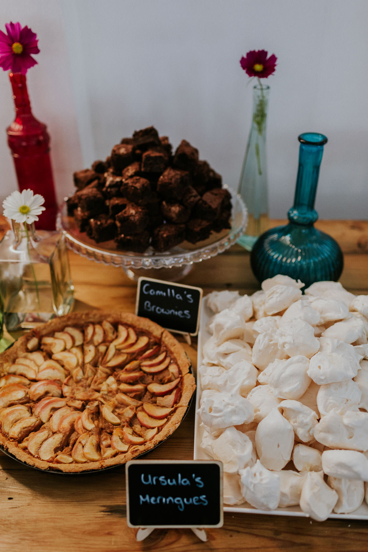 London Wedding at Core Clapton: dessert and pudding table