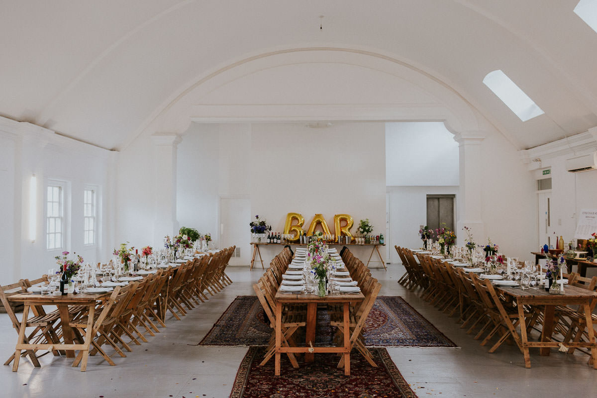 London Wedding at Core Clapton: wedding tables