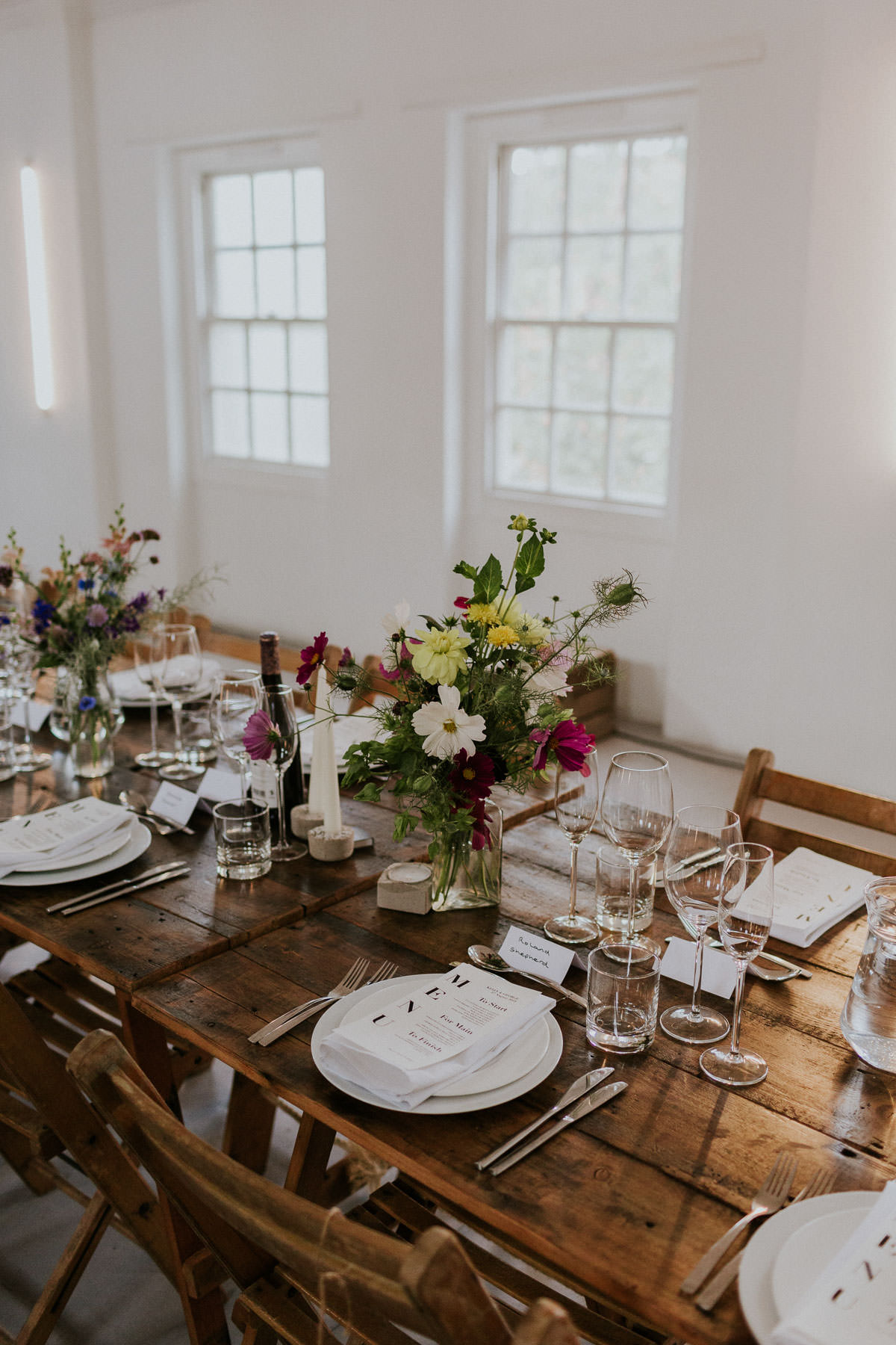 London Wedding at Core Clapton: Wedding Tablescape and menus