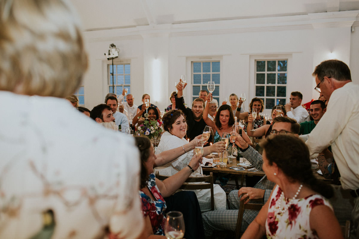 London Wedding at Core Clapton: cheers!