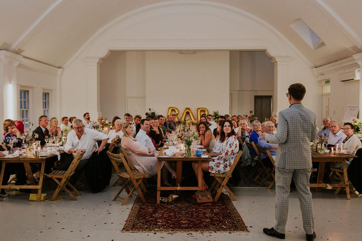 London Wedding at Core Clapton: wedding breakfast