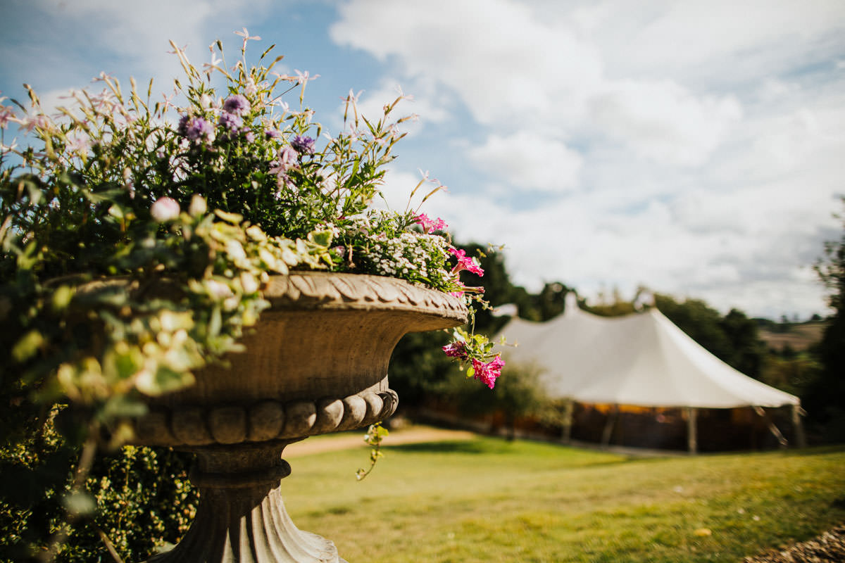 Bohemian Wedding Inspiration: Country Tipi Wedding marquee at Hertfordshire wedding venue