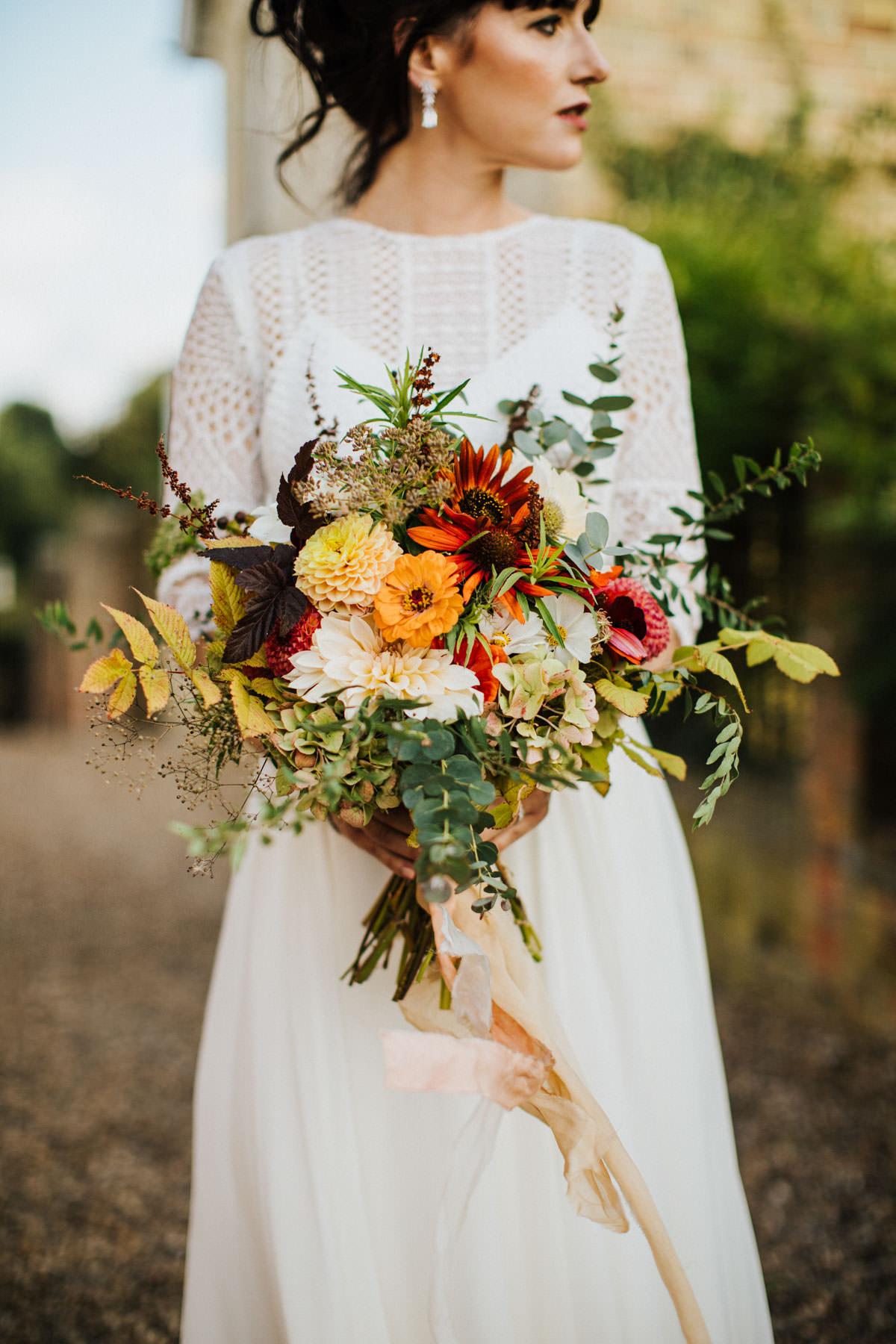 Bohemian Wedding Inspiration: Beautiful Autumnal Wedding Bouquet