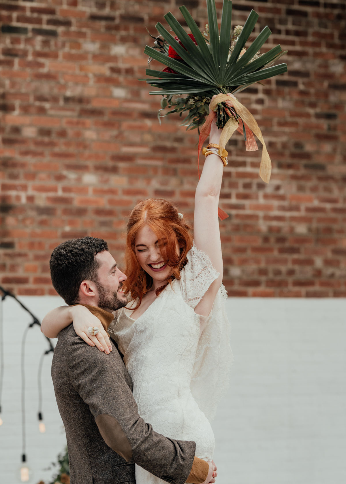 Industrial Meets Boho Wedding Inspiration: Cool couple portrait at 92 Burton Road