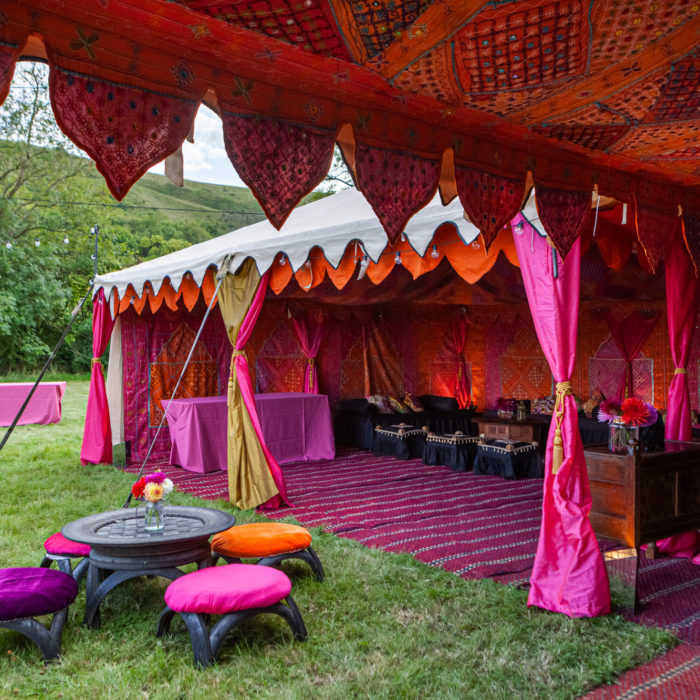Arabian Tent Company - Unique, colourful wedding marquee + tent