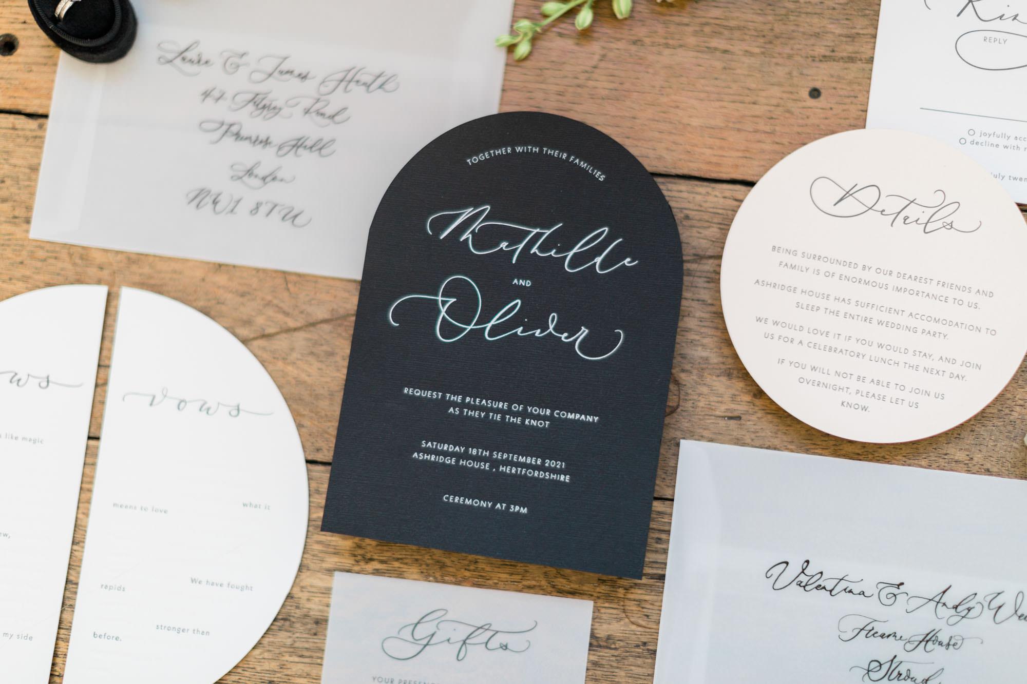 Ink and Paper Bespoke Lettering Design - Wedding Stationery
