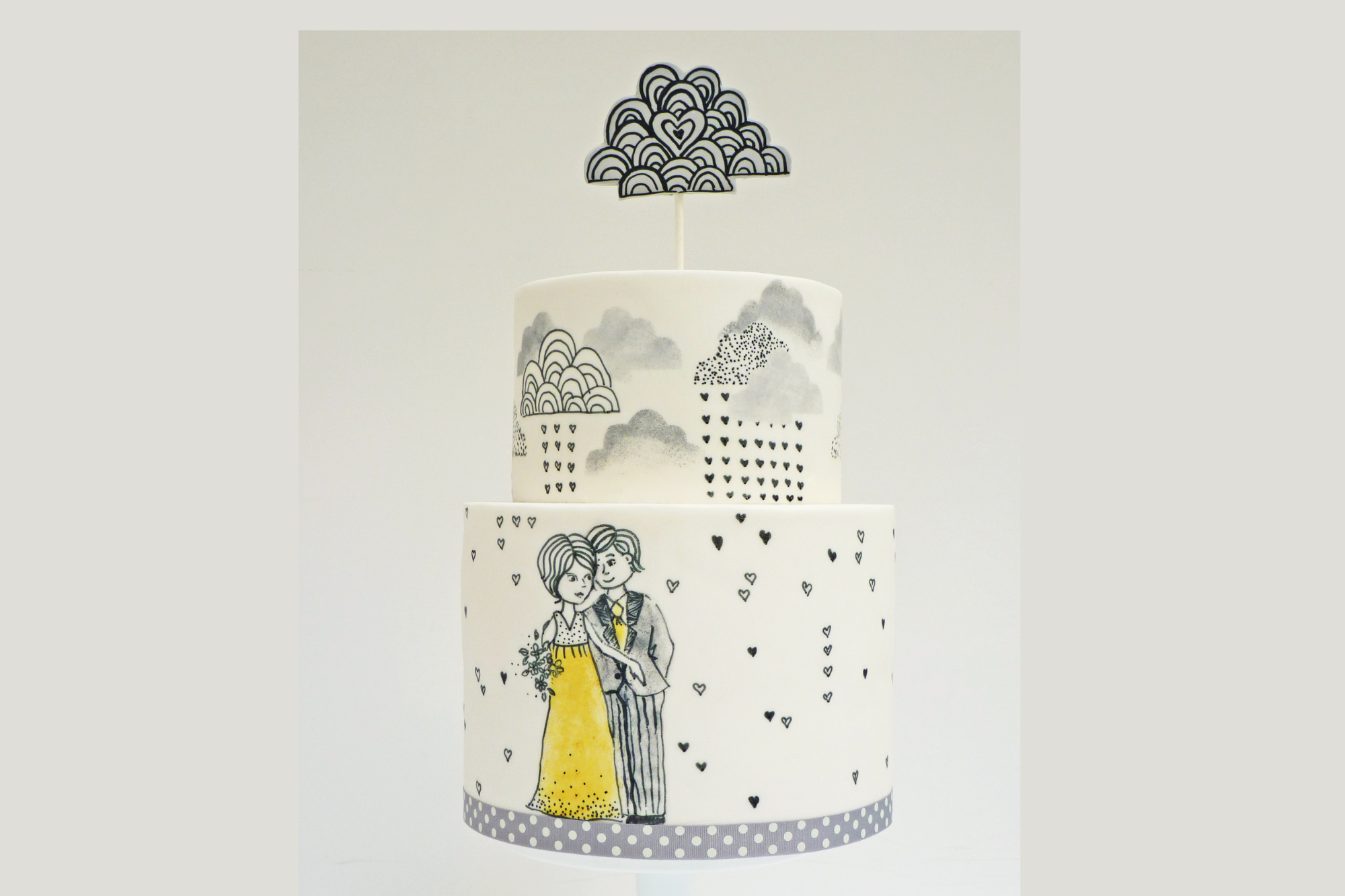 Nevie Pie hand painted wedding cakes