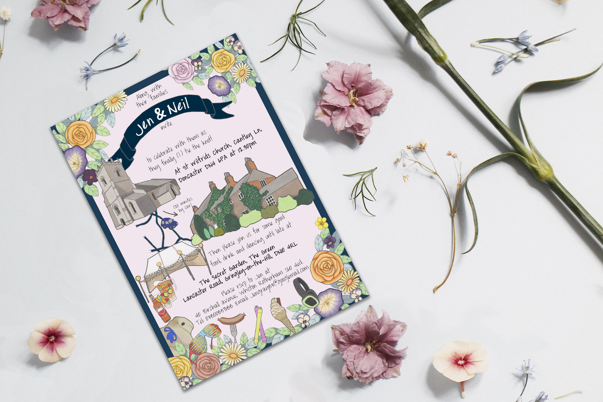Paper Heart Stationery - Illustrated, Bespoke Wedding stationery
