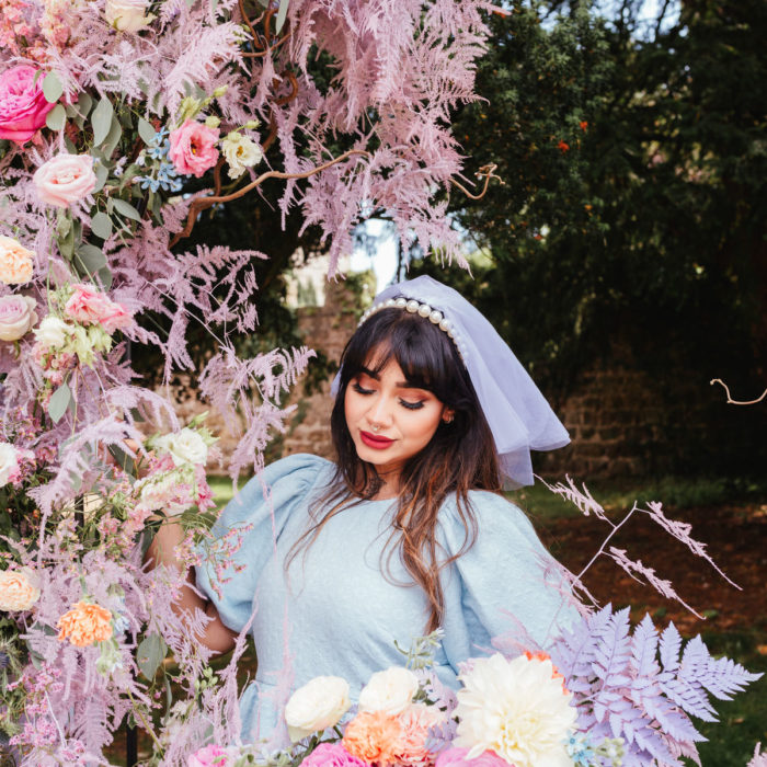Romantic Maximalist Bridal Inspiration with pastel florals
