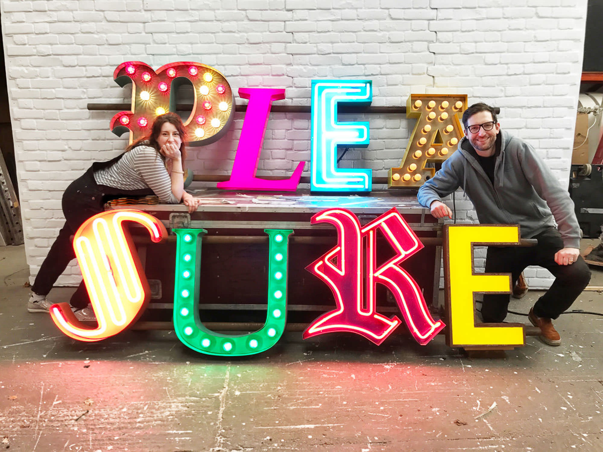Vowed and amazed - neon sign + oversized prop hire for weddings