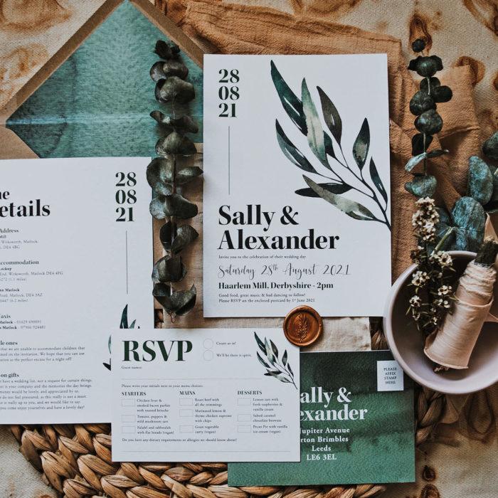 Design By Emily - Modern, Botantical, Bohemian Wedding Stationer