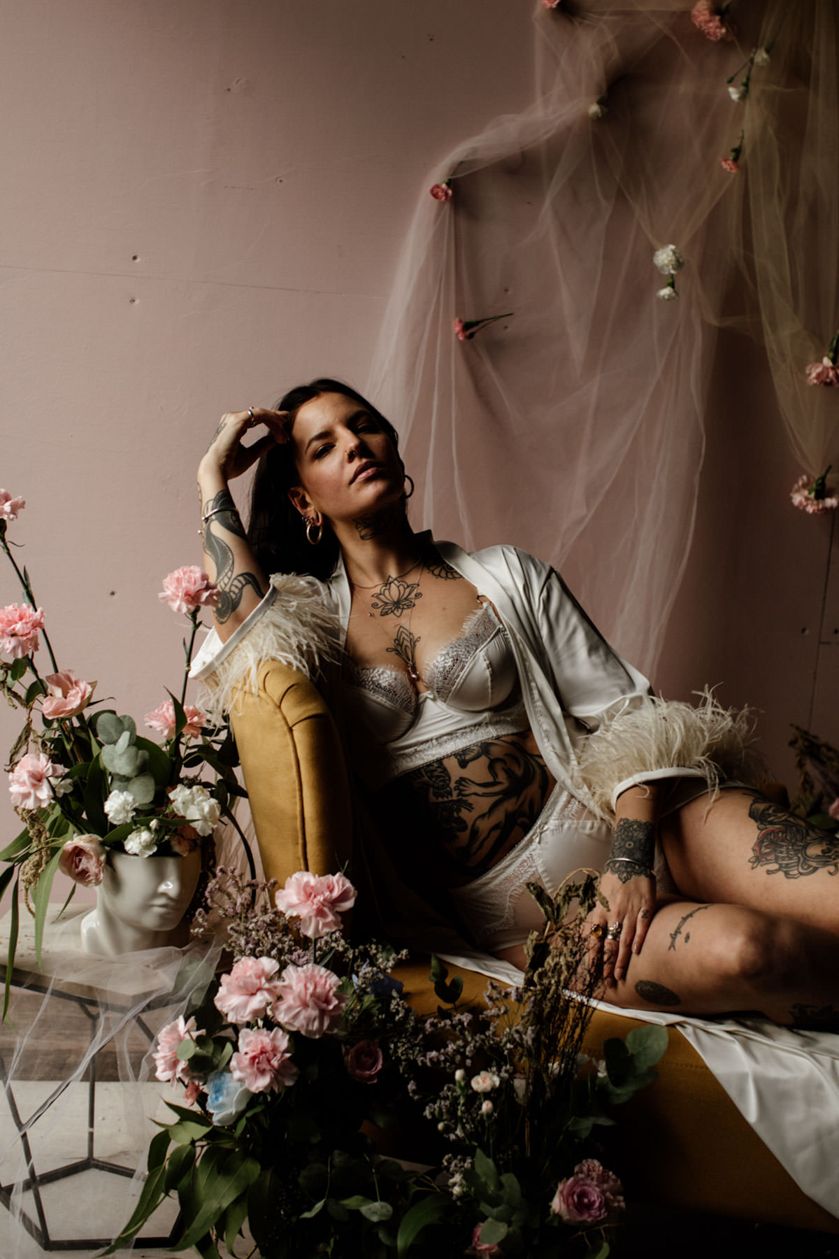 Luxe Bridal Lingerie Inspiration at the Giraffe Shed