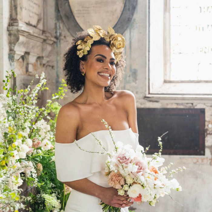 Modern, stylish bridal inspiration at The Mount Without in Brist