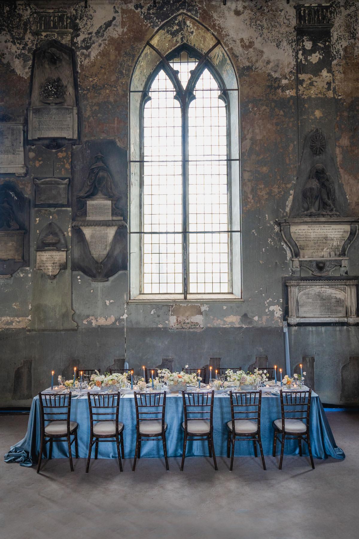 blue wedding inspiration, bristol church, bristol wedding venue, classic wedding venue, modern wedding inspiration, south west wedding venue, The mount without, the wedding helper