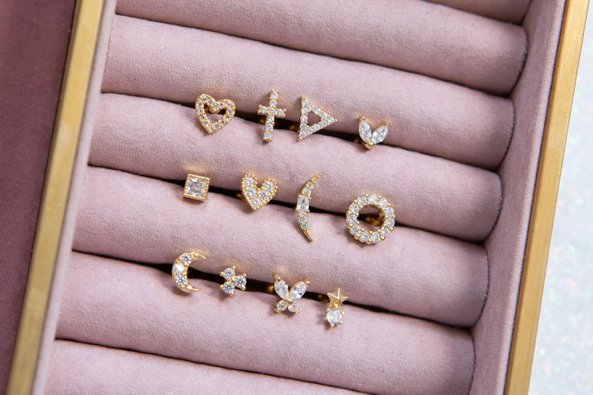 barbell design, birdesmaid jewellery, bridal accessories, bridal earrings, bridesmaid gifts, contempary jewellery, ear cuffs, helix, huggie hoops, labreyt design, lip rings, lobe earrings, modern jewellery, nose rings, stackable earrings, stacked earrings, statement jewellery, tragus, twilight london, bridal earrings, bridal jewellery