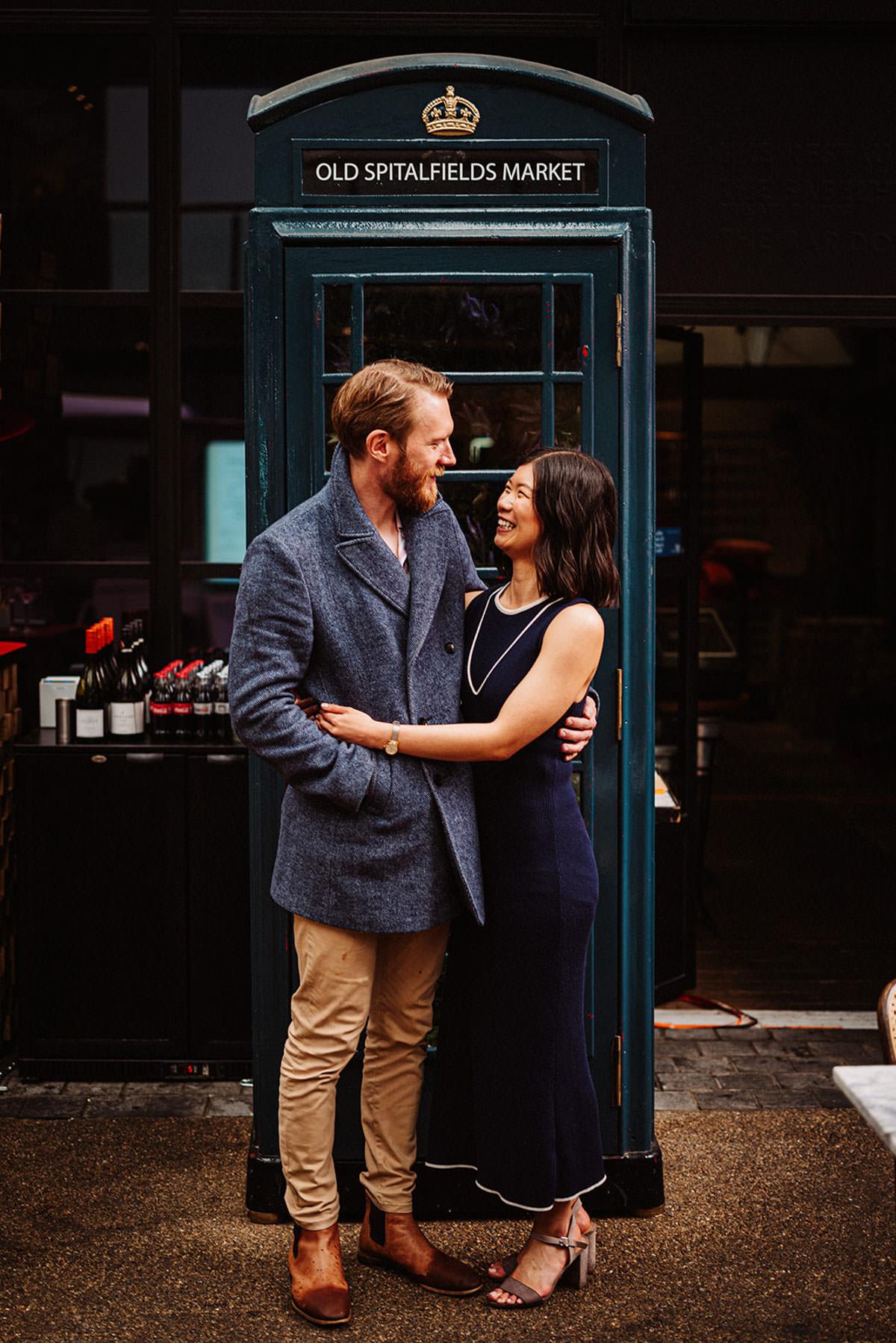 London pre-wedding shoot with ginger beard weddings