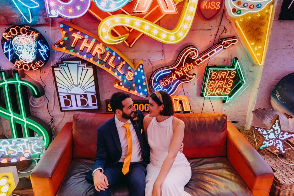 Intimate London Wedding at God's Own Junkyard