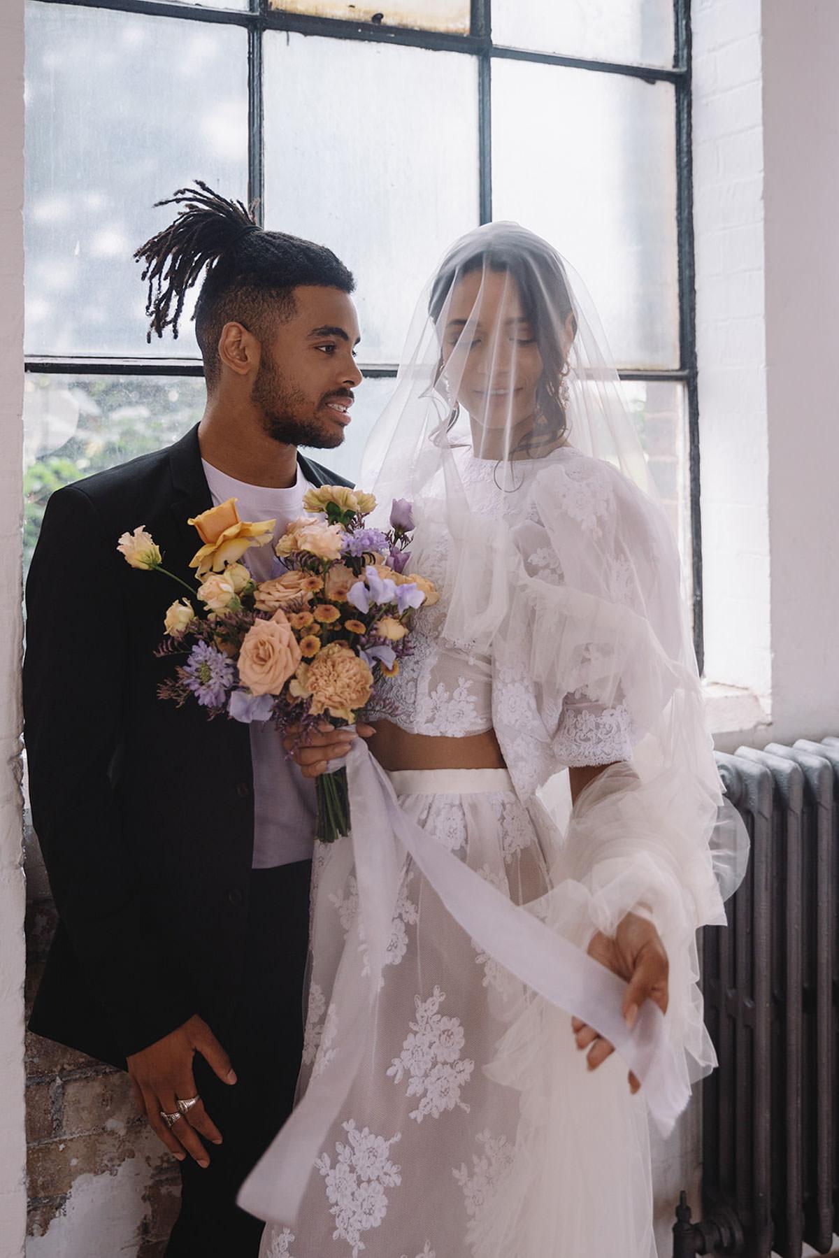 Urban Romance - Modern Loft Style Wedding Inspiration with pastel details